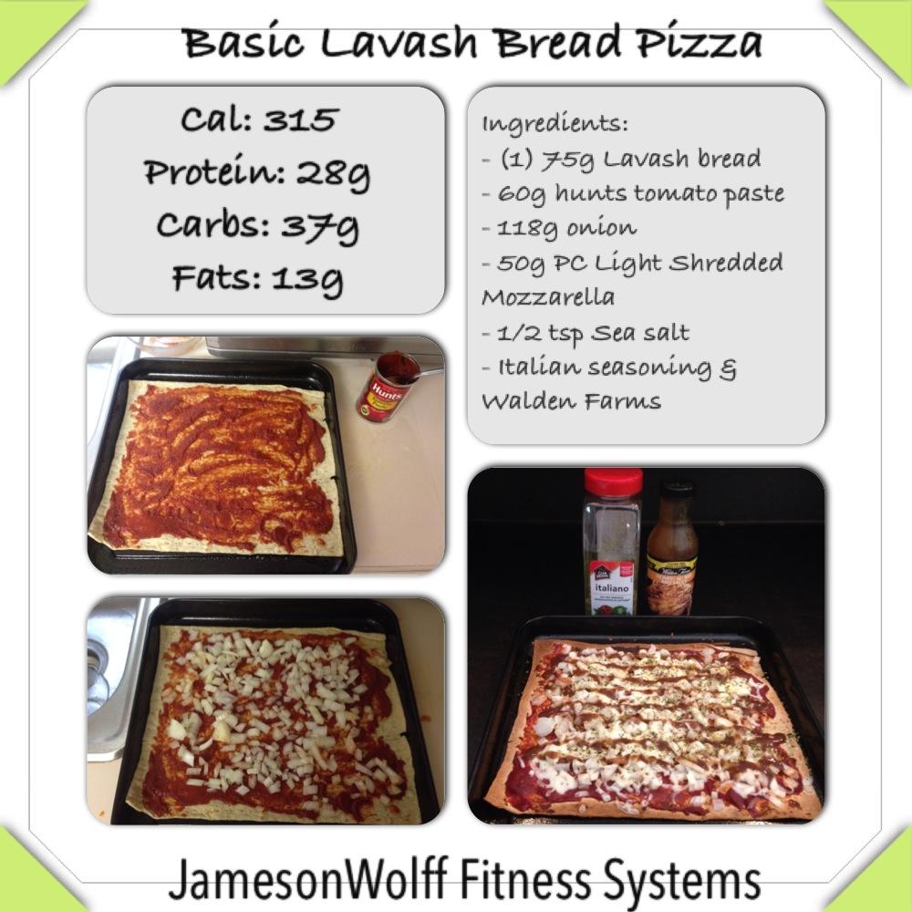 Basic Lavash Bread Pizza
